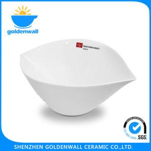 Customized Logo White Porcelain Portable Soup Bowl pictures & photos