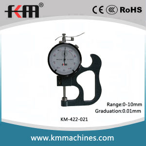 0-10mm Thickness Gauge with 0.01mm Graduation and 25mm Throat Depth pictures & photos