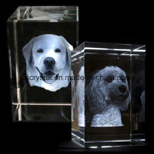3D Laser Engraved Blank K9 Crystal Glass Cube for Souvenir pictures & photos