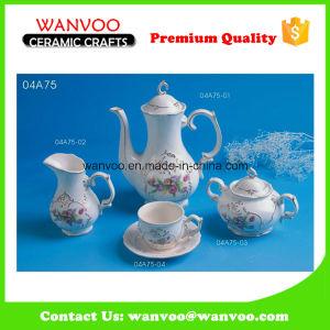 Hand Printing Golden Border Porcelain Tea Set pictures & photos