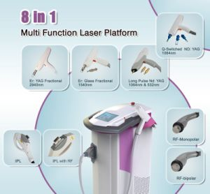 8-in-1 Multi-Functional Laser Equipment IPL RF ND YAG Laser Hair Removal Machine pictures & photos