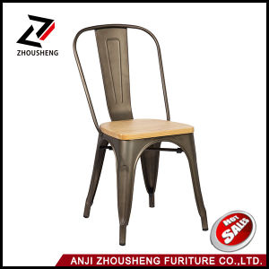 Dhp Fusion Metal Dining Antique Chair with Wood Seat Antique Copper pictures & photos