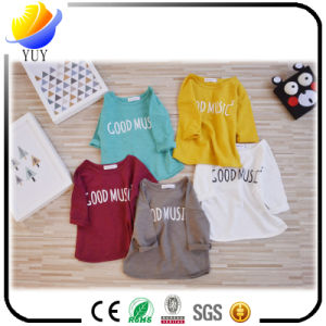 Spring and Summer Models Nine Sleeves Cotton Colored Children and Girls Bottoming Shirt pictures & photos