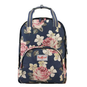 Waterproof Canvas Floral Patterns Multi Pocket Backpack (597760) pictures & photos