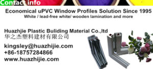 Plastic / UPVC Extrusion Profile for Sliding Doors and Windows Made in China Top Quality pictures & photos