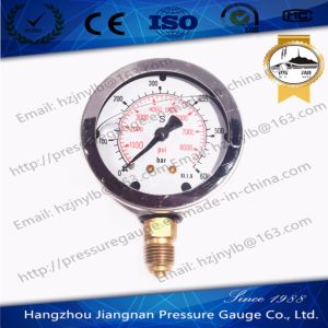 60mm 2.5′′ Ss Oil Filled High Pressure Gauge with Integrated Bourdon Tube and Connection pictures & photos