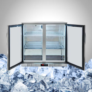 Stainless Steel Undercounter Fridge with Glass Door pictures & photos