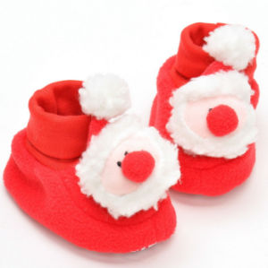 OEM Christmas Plush Non-Slip Shoes for Kids and Children pictures & photos