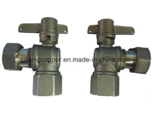 Dzr Brass Angle Lockable Ball Valve pictures & photos