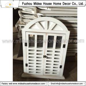 Antique Vintage Black Handmade Decorative Wooden Window Shutter Mirror pictures & photos
