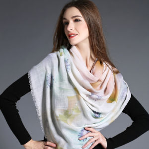 Wool Scarf Light Color Digital Printing pictures & photos