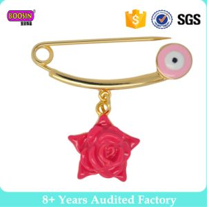 Best Selling Gold Enamel Star Evil Eyes Pink Rose Pin Brooch pictures & photos