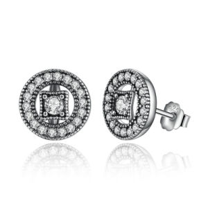 Silver Plated Rhodium Circle Design Earring pictures & photos