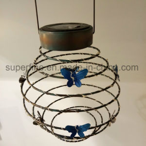 Waterproof Romantic Elastic LED Solar Firefly Elastic Metal Lantern Decorative Outdoor Lights pictures & photos