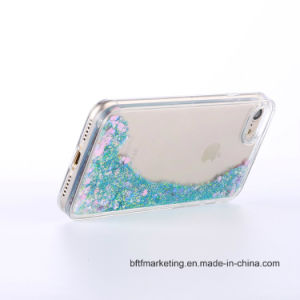 The 3rd Generation Glitter Bling Liquid Sand Star Quicksand Clear TPU Phone Case pictures & photos