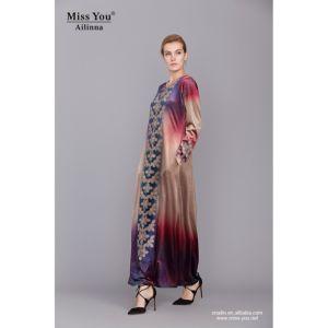 Miss You Ailinna 801974 Ladies Velvet Print Muslim Maxi Dress pictures & photos
