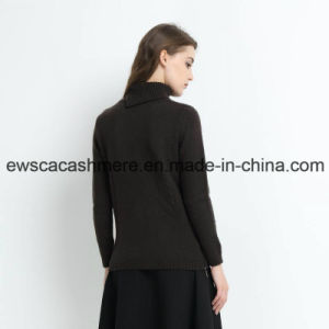 Rainbow Like Women Turtle Neck 100% Cashmere Sweater pictures & photos