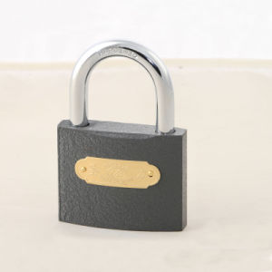 Cheap Price MID Heavy Duty Customized Logo Grey Iron Padlock pictures & photos