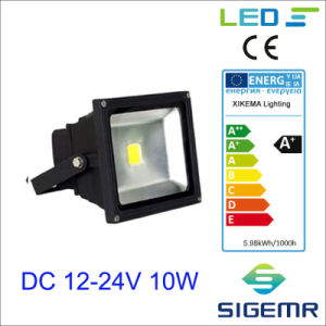 Solar Powered 12V COB Epistar LED Flood Light with PIR Sensor pictures & photos