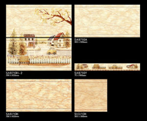 Bathroom Ceramic Wall Tile Inkjet Glossy Tile 300X600 pictures & photos