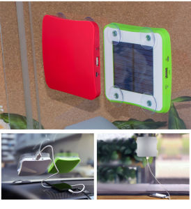 2017 High Capacity Dual USB 10000mAh Universal Solar Power Bank for Mobile Phone pictures & photos