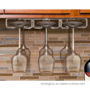 Under Cabinet Stainless Steel Hanging Wine Glass Cup Rack pictures & photos