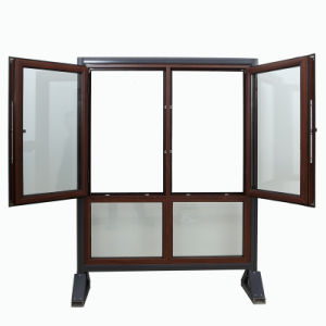 Caribbean Design Wooden Finished PVC Window UPVC Casement/Awning Window