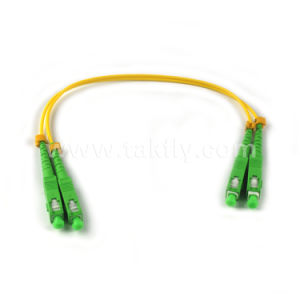 Sc Upc Singlemode OS1 9/125um Duplex Fiber Optic Patch Cord pictures & photos