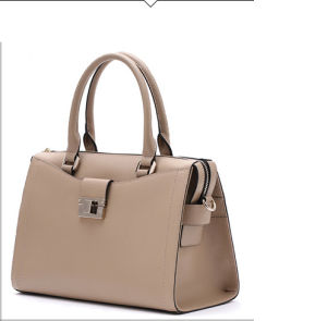 2017 New Elegant Hand Bag Single Color Tote Ladies Shoulder Bag Hcy-4061 pictures & photos