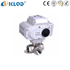 3 Way Stainless Steel Ss316 Electric Ball Valve pictures & photos