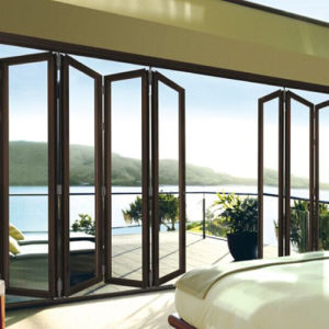 Feelingtop Powder Coated Aluminum 2.0mm Folding Door pictures & photos
