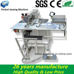 High Speed Compueterized Automatic Feeding Jean Pocket Sewing Machines pictures & photos