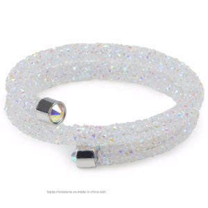 2017 New Rhinestone Double Crystal Bracelet Wrap Crystal Bangle (TB-double row 003) pictures & photos
