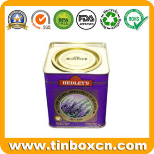 Metal Square Tea Tin Box with Airtight Lid pictures & photos