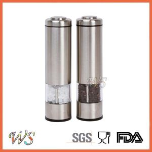 Ws-Pgs003 Adjustable Electric Stainless Steel Salt and Pepper Mill Set Spice Grinder pictures & photos