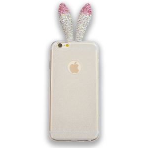 Cute Long Ear Rabbit 3D Bling Crystal Ears TPU Soft Shell Case for Apple iPhone 6s Plus 5.5/iPhone 6 Plus 5.5 Inch pictures & photos