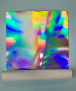 Silver Transfer Holographic Metalised Paperboard for Cosmetic Case pictures & photos