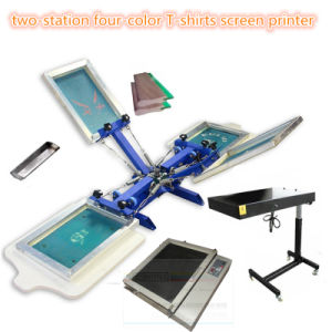 TM-R4k 2-Station 4 Color Textile Screen Printing Machine pictures & photos