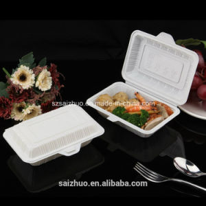 Folding Food Grade White Plastic Takeaway Food Container (SZ-A106) pictures & photos