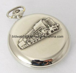 China Watch Factory Analog Quartz Brass Train Pocket Watch Mens pictures & photos