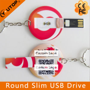 Full Color Printing Round Card USB Flash Drive (YT-3108) pictures & photos