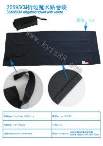 Soild Microfiber Beach Towel with Hook & Loop