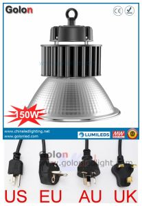 China Shenzhen Manufacturer 110lm/W 150 Watts LED High Bay Light Fitting with EU Us Au UK Plug pictures & photos