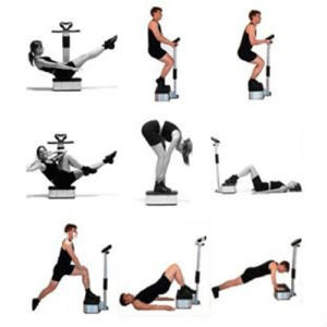 Foot Massage Machine Vibration Plate with Handlebar pictures & photos