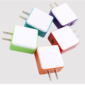 Dual USB Wall Charger with EU Au Us UK Plug for Cellphone pictures & photos