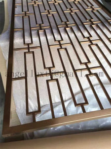 Interior Decorative Stainless Steel Pipe Room Divider Black Brush Finish Screen pictures & photos