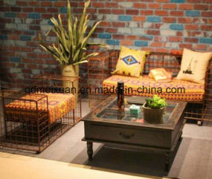 Europe Type Restoring Ancient Ways Do Old, Wrought Iron Sitting Room Sofa Chair, Double Single Person Sofa Chair Hotel Leisure Sofa Chair (M-X3722) pictures & photos
