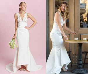 High Quality Satin Mermaid Wedding Dress pictures & photos