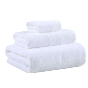 China Supplier Wholesale White Cotton Hotel Face Hand Bath Towel pictures & photos