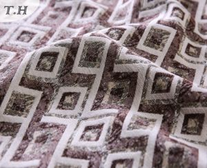 Colorful Diamond Pattern 100% Polyester Jacquard Sofa Fabric pictures & photos